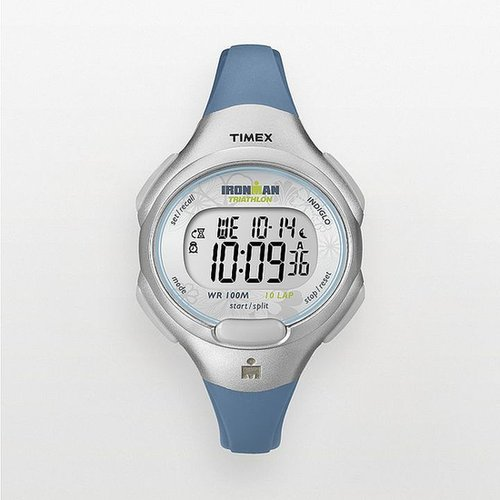Timex ironman triathlon blue 10-lap digital chronograph watch - t5k6049j - women