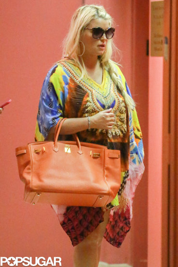 Jessica Simpson ran errands in Beverly Hills.