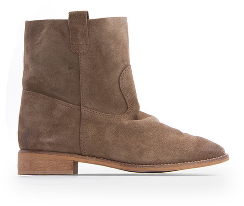 Brushed-suede ankle boots