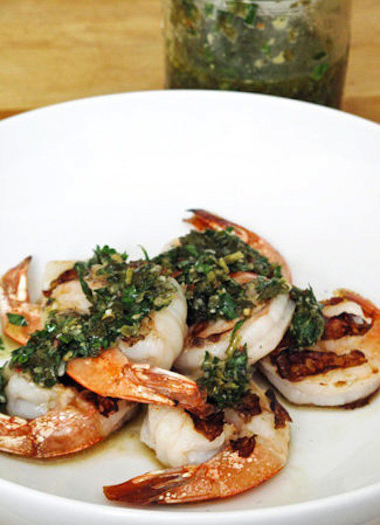 Shrimp With Salsa Verde