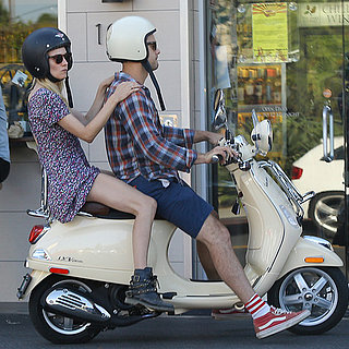 Diane Kruger and Joshua Jackson on a Hike and Vespa in LA