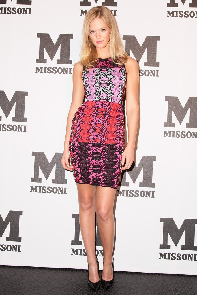 Erin Heatherton was pretty in Missoni's pink dress at Le Bain for the M Missoni music event.