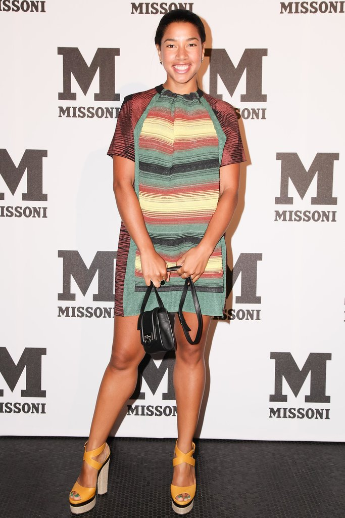 Hannah Bronfman coordinated her bright sandals to accents in her Missoni dress at the label's New York event.