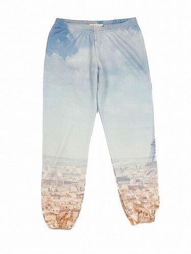 ALL THINGS FABULOUS Paris Print Terry Sweatpants