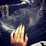 Heidi Klum showed off an amazing Valentino bag . . . paired with a sexy manicure. Source: Instagram user heidiklum