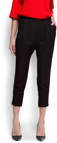 Wrapped tapered trousers