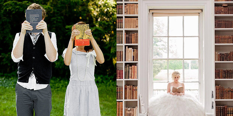 Novel Idea: Bookish Engagement Pics