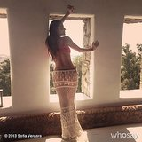 Sofia Vergara enjoyed herself in Mykonos.  Source: Sofia Vergara on WhoSay