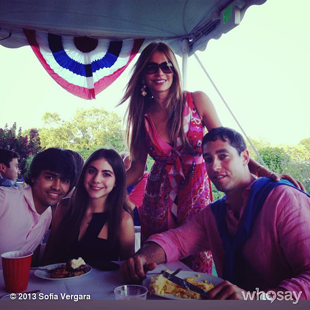 Sofia Vergara spent the day at a country club. Source: Sofia Vergara on WhoSay