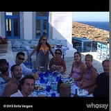 Sofia Vergara had a lunch party in Greece! Source: Sofia Vergara on WhoSay