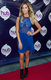 Ashley Tisdale was at the TCA Red Carpet party.