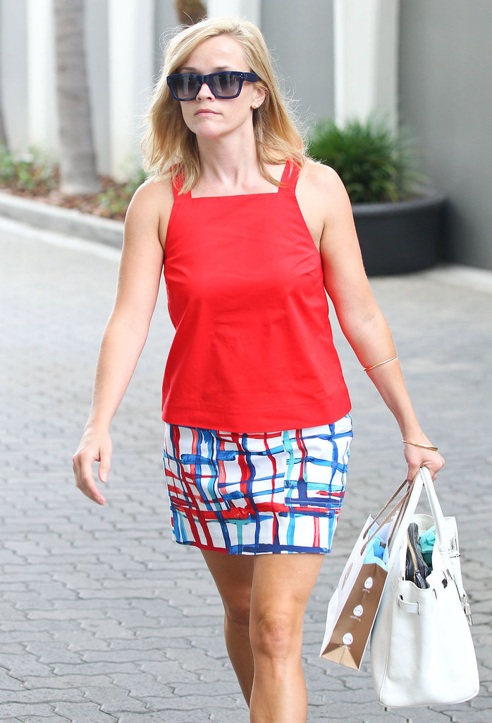 Reese Witherspoon wore a colorful outfit in West Hollywood.