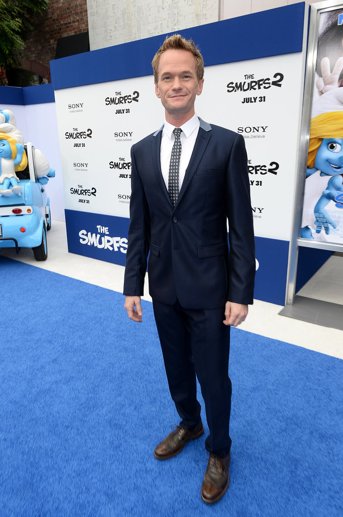 Neil Patrick Harris attended the premiere of The Smurfs 2 in LA.