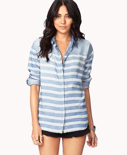 LOVE 21 Life In ProgressTM Striped Denim Shirt