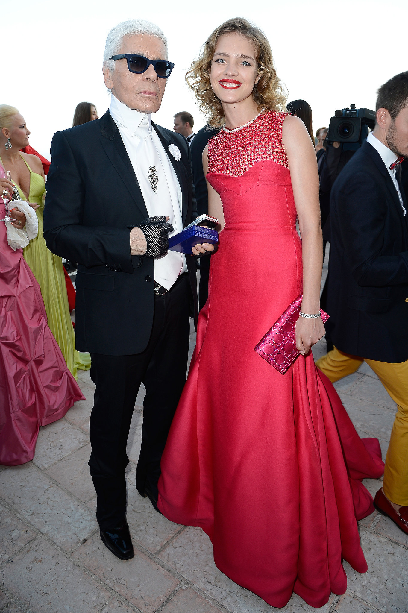 Natalia Vodianova hosted the Love Ball in red and joined guests including Karl Lagerfeld in benefiting The Naked Heart Foundation.