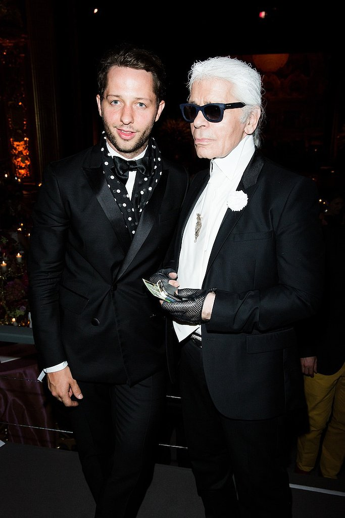 Well-dressed gents like Derek Blasberg and Karl Lagerfeld (nearly!) rivaled the lavish gowns at the Love Ball.
