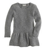 Girls' Peplum Sweater ($58)