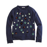 Girls' Embellished Floral Sweatshirt ($55)