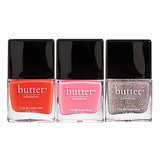 "All Butter London polishes ($15 each) are ""three free,"" meaning that they don't contain toluene, formaldehyde, or dibutyl phthalate. And for a polish that's free of nasty chemicals, their lasting power is amazing. Plus, the color options are stellar."