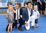 David Burtka and Neil Patrick Harris attended premiere of The Smurfs 2 with their twins, Harper and Gideon, in LA on Sunday.