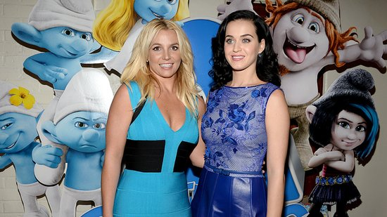 "Video: Britney Spears and Katy Perry's Big Blue Meeting — and ""Vegas Date""!"