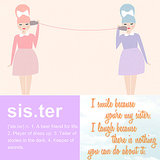 Sweet Art Prints For National Sisters Day