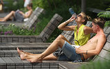 Water was in high demand on Manhattan's High Line, when temperatures climbed into the '90s in June.