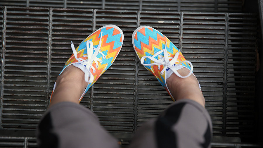 Get Cool Patterned Sneakers With This Easy DIY!