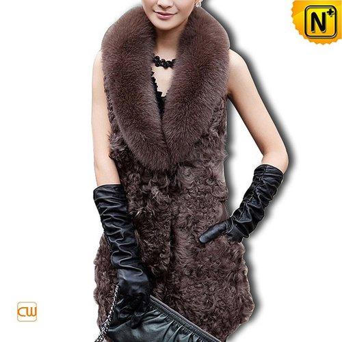Women Sleeve Sheepskin Vest CW610017 - cwmalls.com