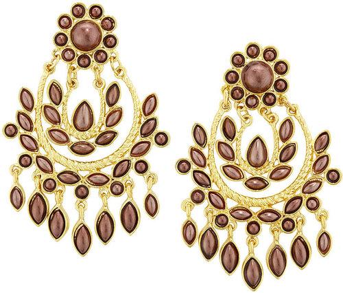 Amrita Singh Meena Chandelier Earrings, Burgundy