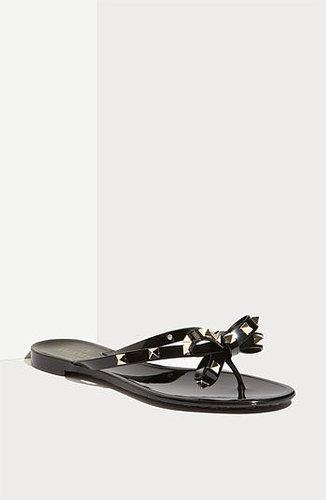 Valentino 'Rockstud' Thong Sandal Black 36 EU