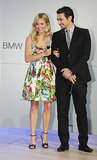 James Franco paired up with Sienna Miller for BMW's Global Reveal event in London.