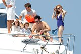 Isla Fisher and Sacha Baron Cohen relaxed on a yacht with their two daughters, Olive and Elula.