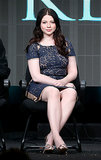 Michelle Trachtenberg was sitting pretty in a lace sheath on stage for a panel at the National Geographic Channel's TCA.