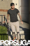 David Beckham smiled as he left UCLA.