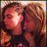 Cara and Poppy Delevingne took a cute nap together. Source: Instagram user poppydelevingne