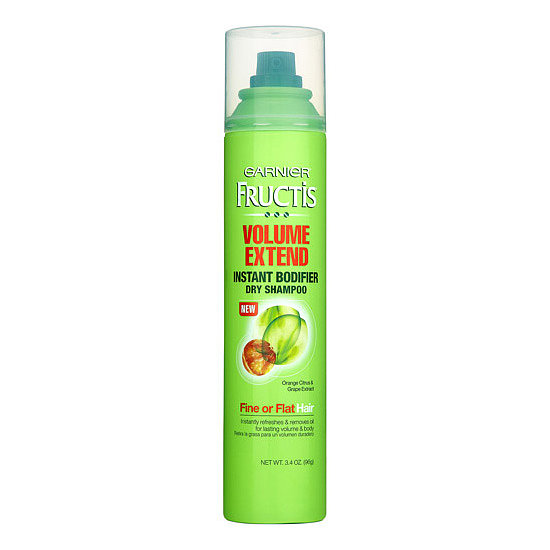 Think your fine hair can't skip a wash? Try Garnier Fructis Haircare Volume Extend Instant Bodifier Dry Shampoo ($6) for root-boosting results that also eliminate greasy roots.
