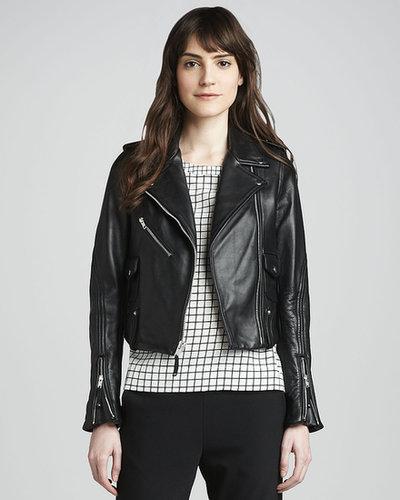 Theory Adashi Leather Motorcycle Jacket
