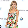 Sienna Miller Wearing Floral Dolce & Gabbana Dress