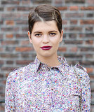 Pixie Geldof wore a winning color combination, pairing her plum lip color with gold bobby pins. For short-haired ladies, they're a Summer must have.