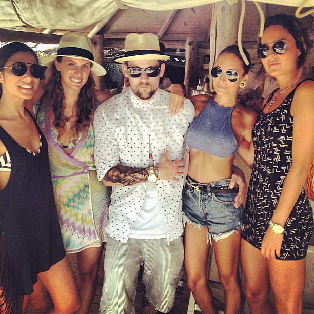 Nicole Richie and Joel Madden posed with a group of friends during their trip to St.-Tropez. Source: Instagram user nicolerichie