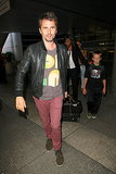 Matthew Bellamy arrived at LAX with his family.