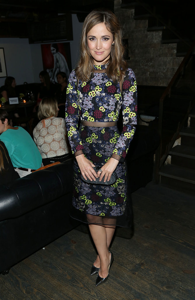 Rose Byrne was a floral delight in Erdem's vibrant designs at the New York I Give It a Year screening.
