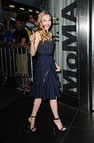 Amanda Seyfried gave the thumbs-up as she made her way into the Lovelace screening in NYC.