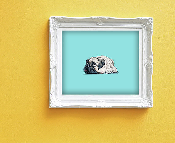This adorable print ($190) comes in its own vintage-inspired frame, perfect for hanging with all your other frames.