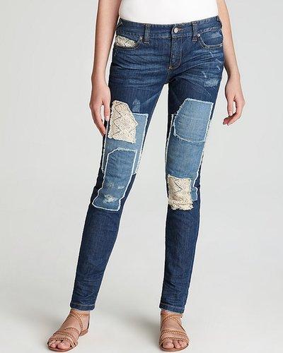 Free People Jeans - Crochet Patch Skinny in Hayneswash