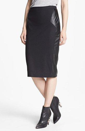 Trouve Pencil Skirt Black/ Black Small