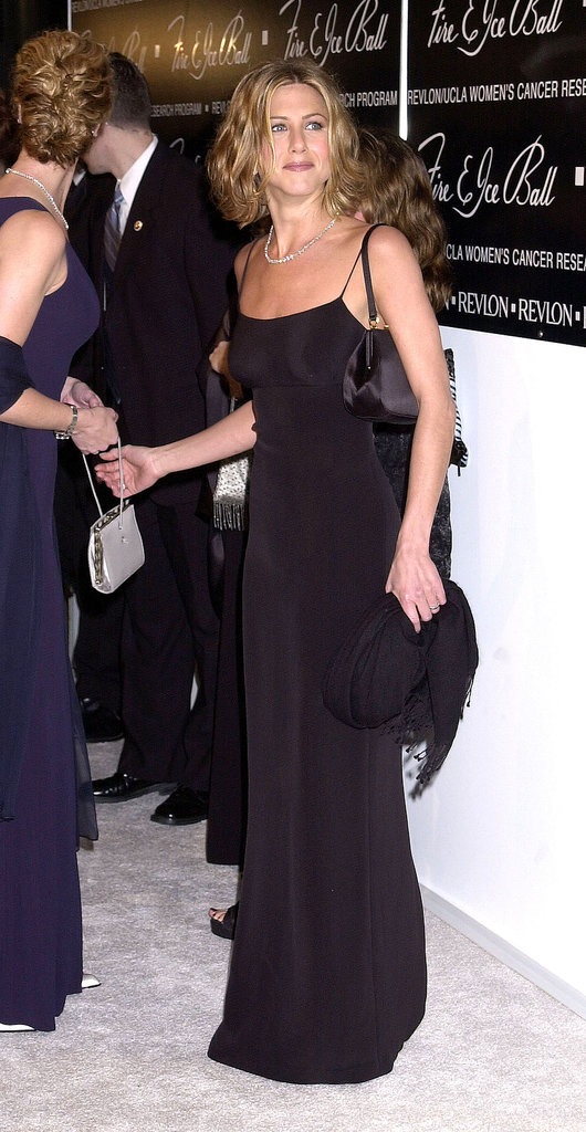 Monochrome never looked so good. We hope Jennifer brings back the cropped beach waves she donned at the Revlon Fire and Ice Ball in 2000.