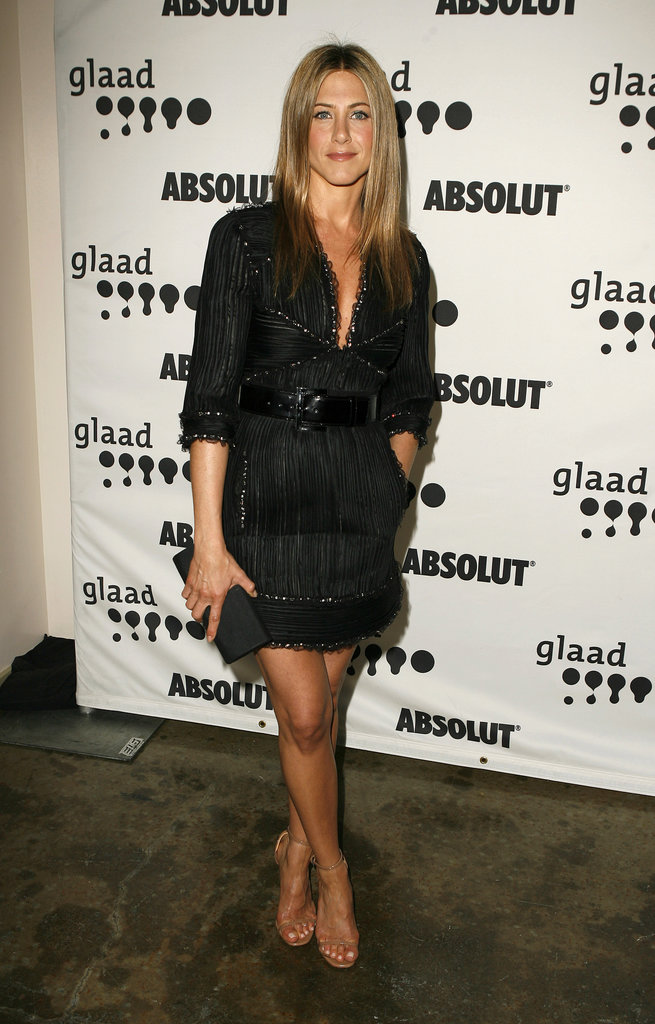 For the 2007 GLAAD Media Awards, the actress overdosed on texture and embellishment with an unexpected silhouette — and we love it!