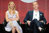 Homeland stars Claire Danes and Damian Lewis shared a laugh at the TCAs, and traveled out of LAX together later in the week.